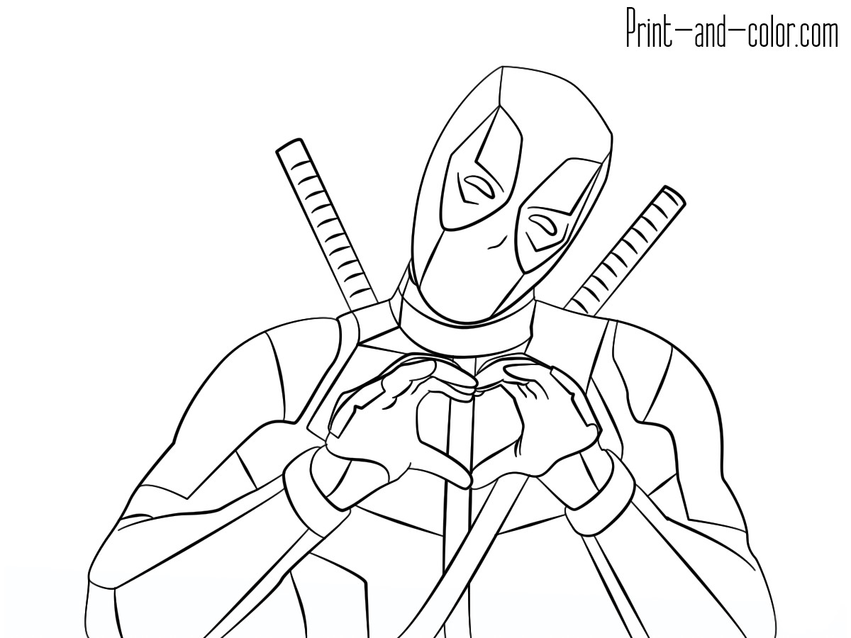 Best ideas about Free Coloring Pages Deadpool . Save or Pin Deadpool coloring pages Now.