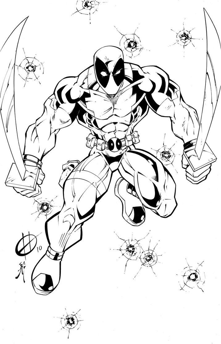 Best ideas about Free Coloring Pages Deadpool . Save or Pin Free Printable Deadpool Coloring Pages For Kids Now.