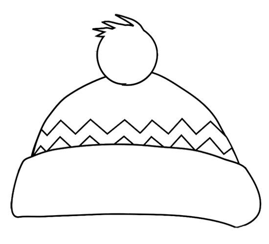 Best ideas about Free Coloring Pages Hats . Save or Pin Winter Hat Coloring Page Now.