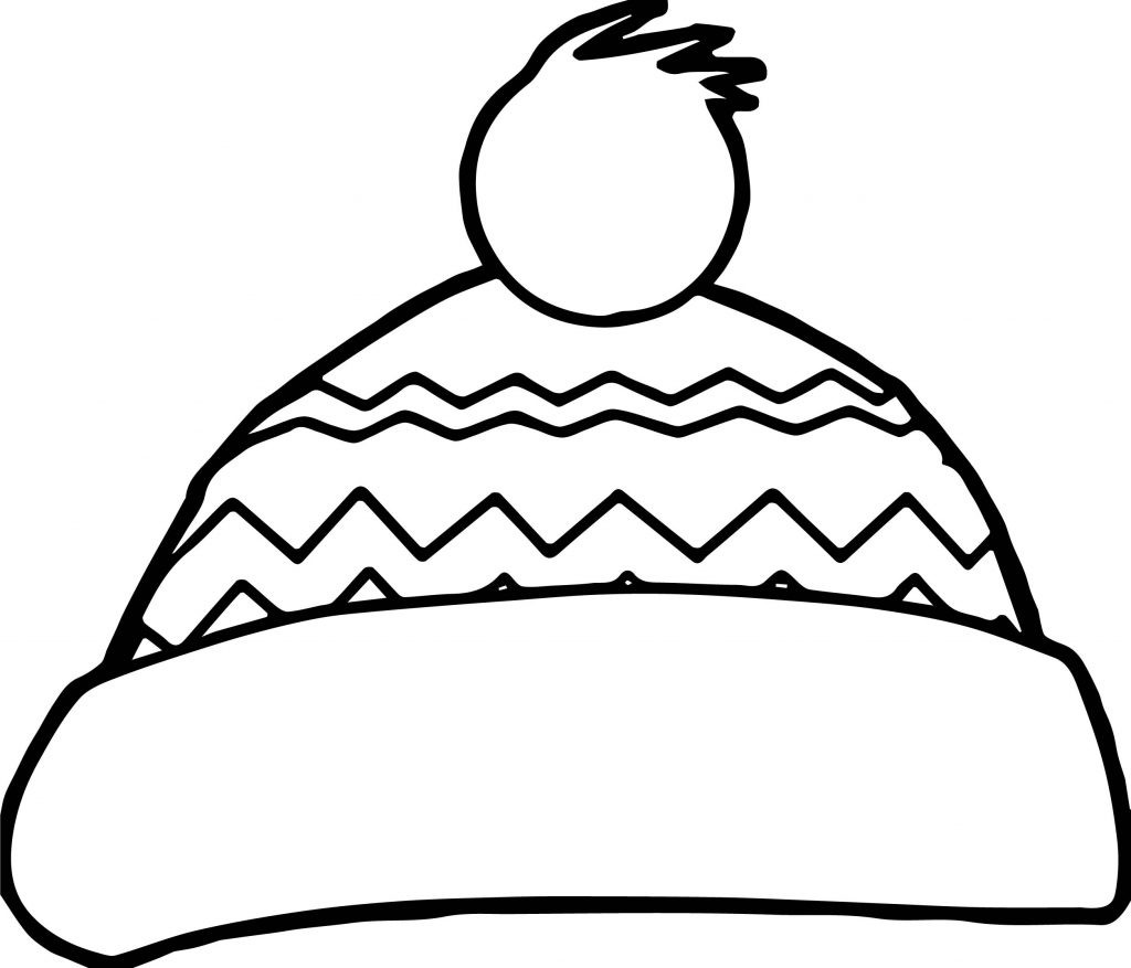 Best ideas about Free Coloring Pages Hats . Save or Pin Winter Snow Hat Coloring Page Now.