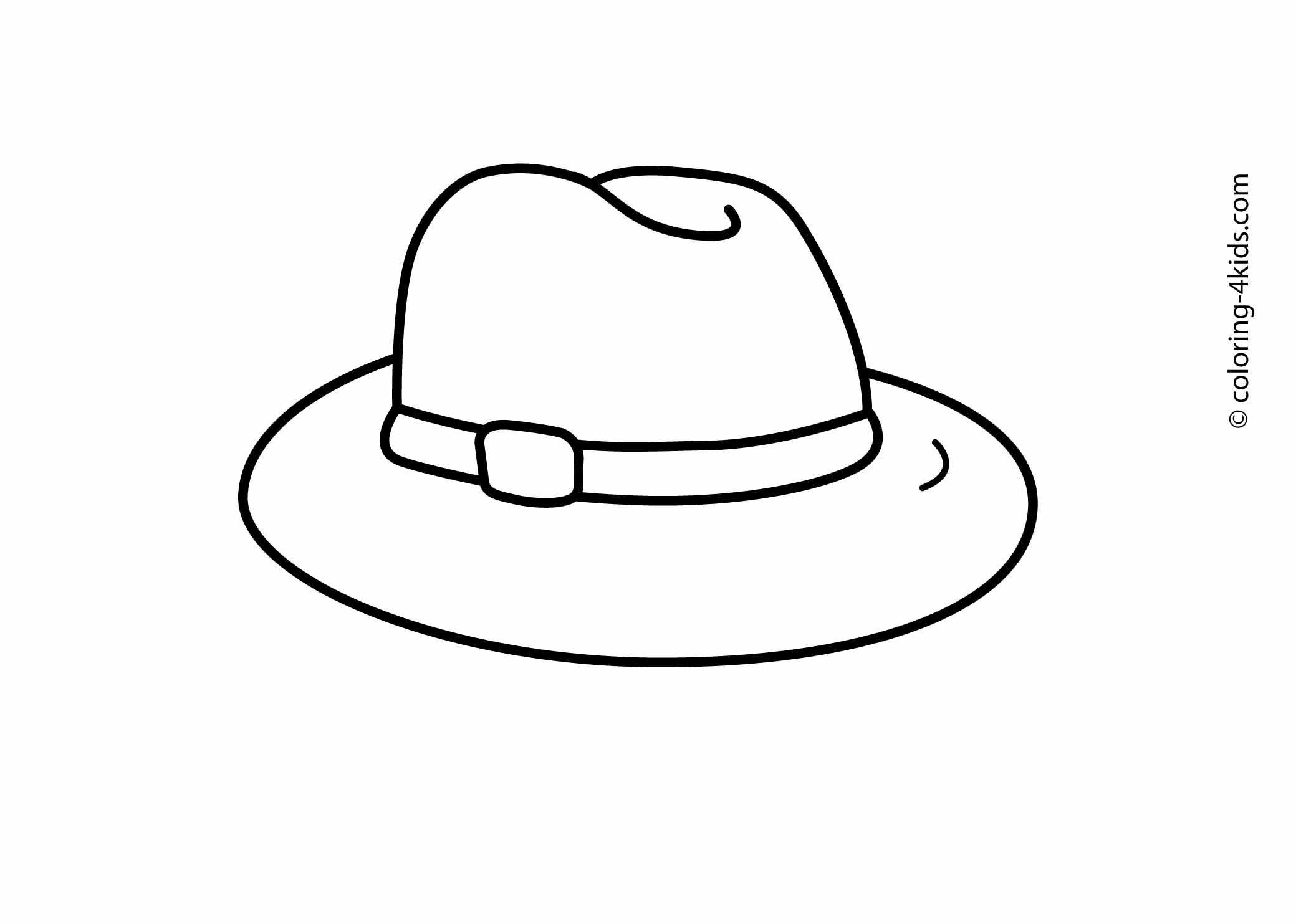 Best ideas about Free Coloring Pages Hats . Save or Pin Hat coloring pages for kids printable drawing Now.