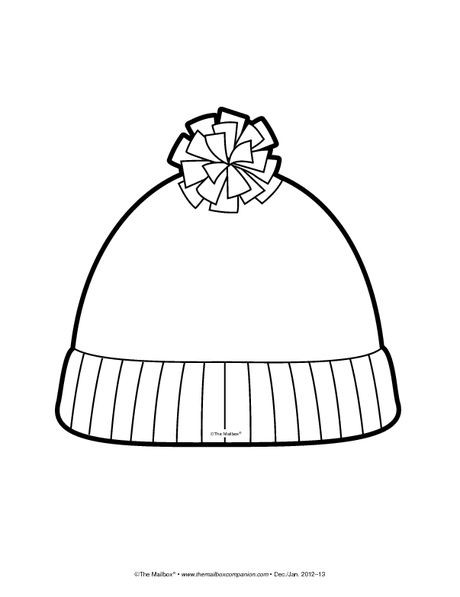 Best ideas about Free Coloring Pages Hats . Save or Pin Short stocking hat coloring page ikverno Now.