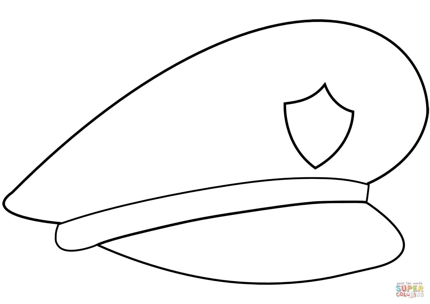 Best ideas about Free Coloring Pages Hats . Save or Pin Police Hat coloring page Now.