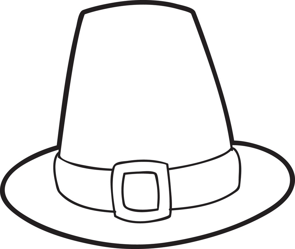 Best ideas about Free Coloring Pages Hats . Save or Pin FREE Printable Pilgrim Hat Coloring Page For Kids Now.