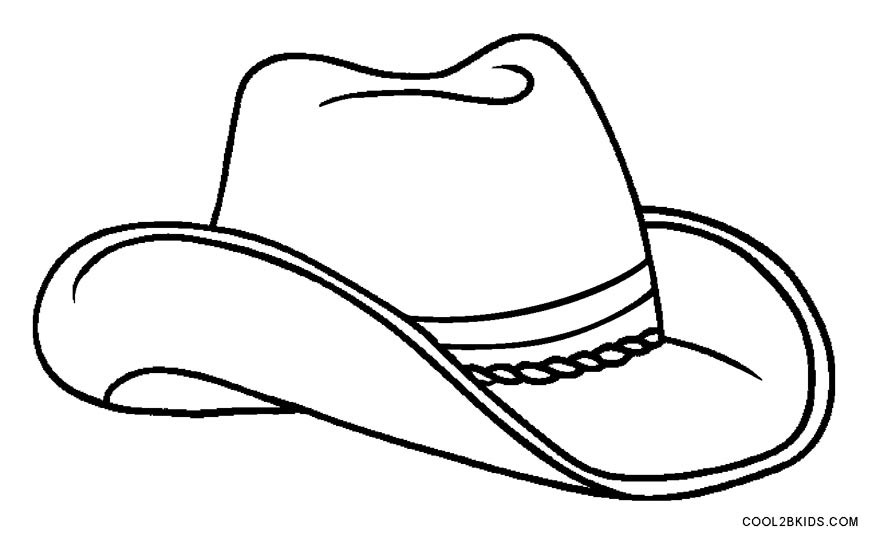 Best ideas about Free Coloring Pages Hats . Save or Pin Printable Cowboy Coloring Pages For Kids Now.