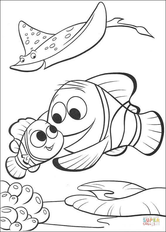 Best ideas about Free Coloring Pages Of Finding Nemo . Save or Pin Marlin Is Finding Nemo coloring page Now.