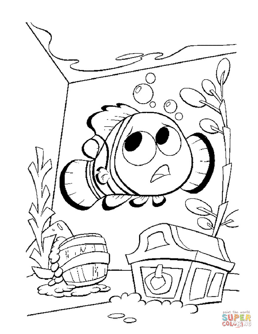 Best ideas about Free Coloring Pages Of Finding Nemo . Save or Pin Nemo In The Aquarium coloring page Now.