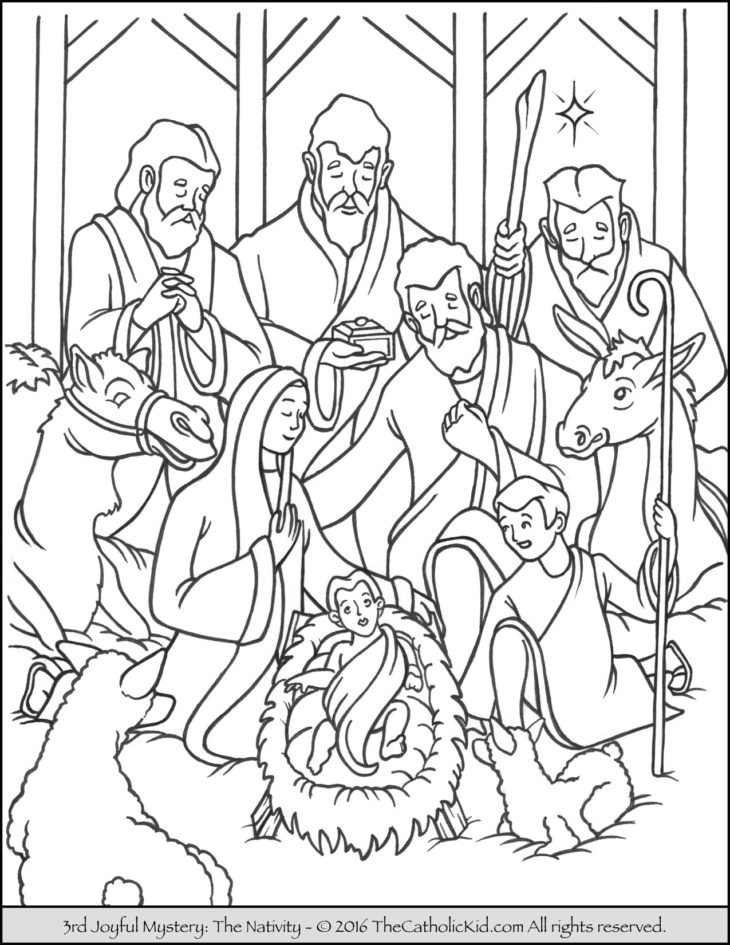 Best ideas about Free Coloring Pages Of The Nativity . Save or Pin The Catholic Kid Catholic Coloring Pages and Games for Now.