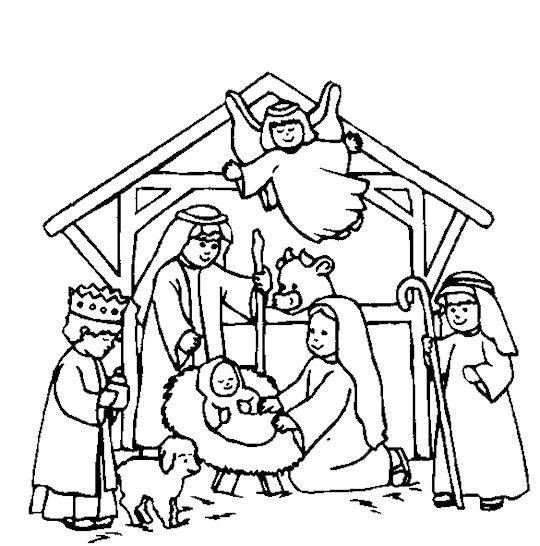 Best ideas about Free Coloring Pages Of The Nativity . Save or Pin Nativity Scene Coloring Page Now.