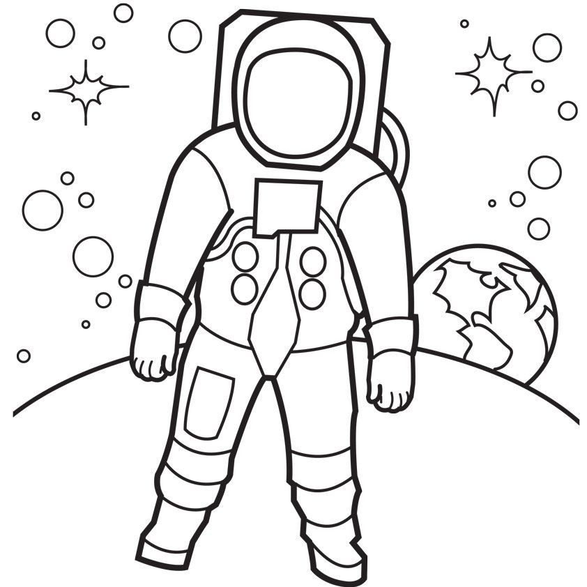 Best ideas about Free Coloring Pages Outer Space . Save or Pin Outer Space Coloring Pages For Kids Coloring Home Now.