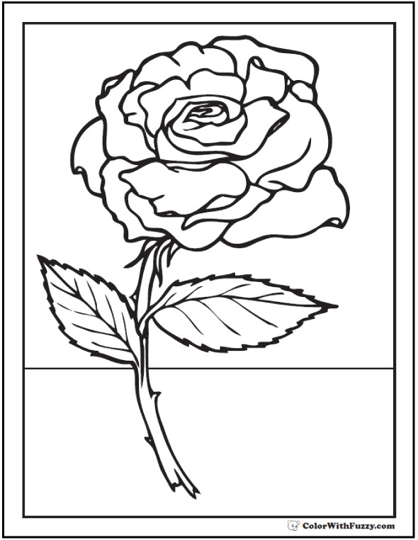 Best ideas about Free Coloring Pages Roses . Save or Pin 73 Rose Coloring Pages Customize PDF Printables Now.