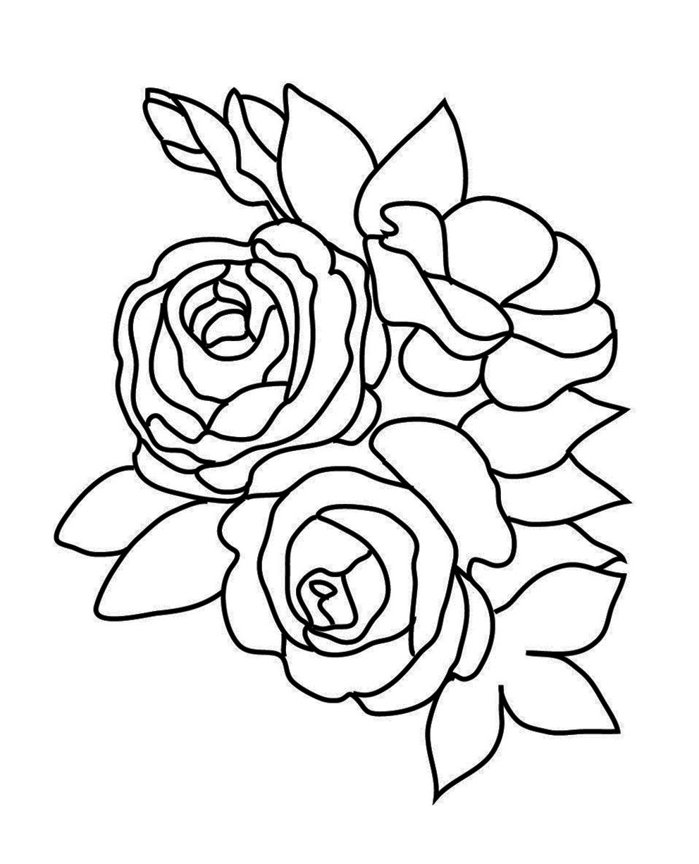 Best ideas about Free Coloring Pages Roses . Save or Pin Flower Coloring Pages Now.