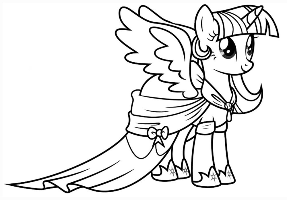 Best ideas about Free Coloring Pages Twilight . Save or Pin Twilight Sparkle coloring pages to and print for free Now.
