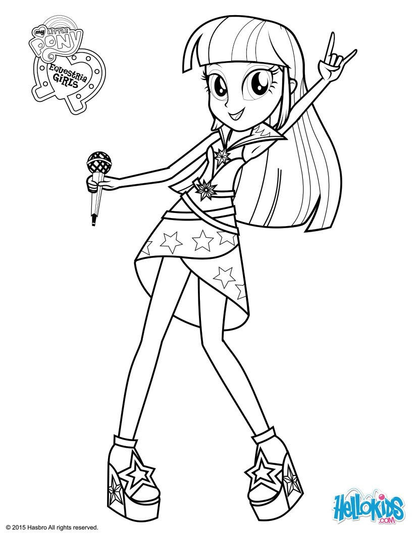 Best ideas about Free Coloring Pages Twilight . Save or Pin Twilight sparkle sings coloring pages Hellokids Now.