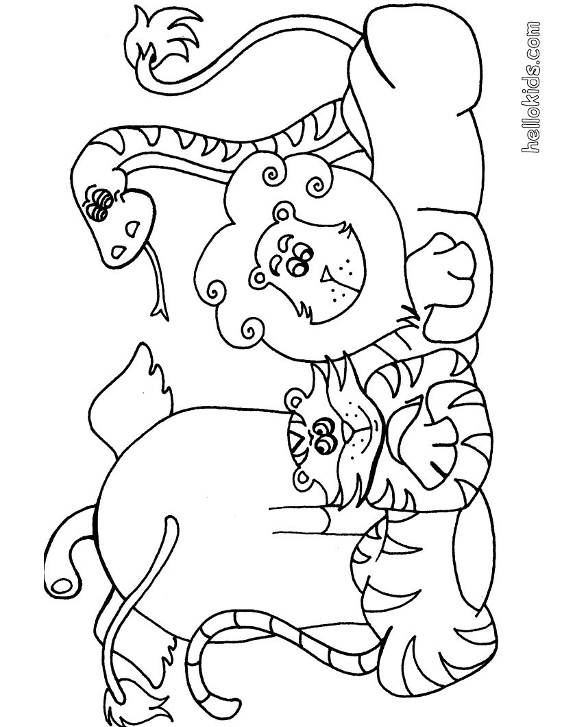 Best ideas about Free Coloring Pages Wild Animals . Save or Pin Wild animal coloring pages Hellokids Now.
