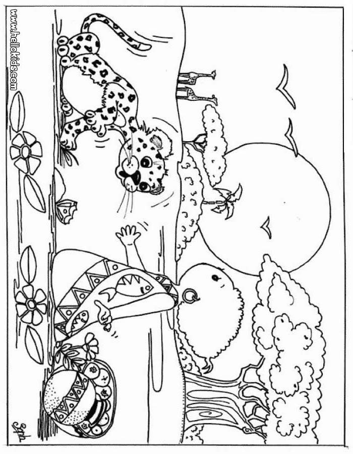 Best ideas about Free Coloring Pages Wild Animals . Save or Pin Kid and leopard coloring pages Hellokids Now.