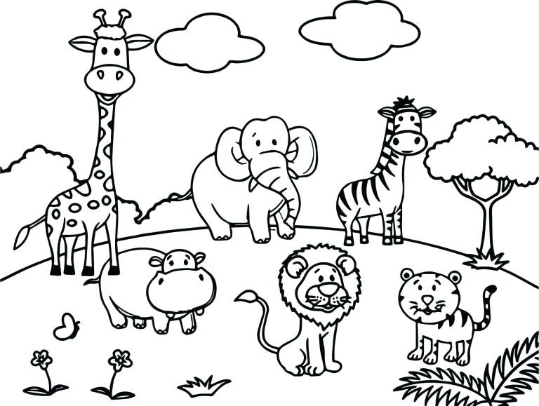 Best ideas about Free Coloring Pages Wild Animals . Save or Pin Wild Animal Coloring Pages Best Coloring Pages For Kids Now.