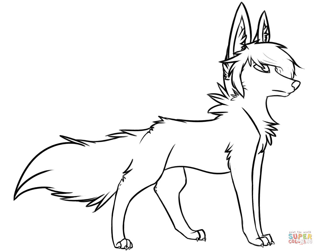 Best ideas about Free Coloring Pages Wolf . Save or Pin Stylish Wolf coloring page Now.