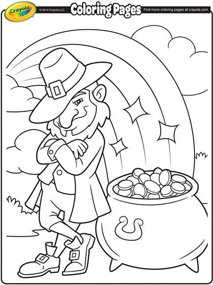 Best ideas about Free Coloring Sheets For Kids For St Patrick'S Day . Save or Pin Saint Patricks Day Coloring Page Now.