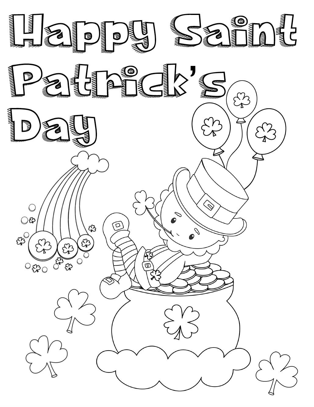 Best ideas about Free Coloring Sheets For Kids For St Patrick'S Day . Save or Pin Free Printable St Patrick's Day Coloring Pages 4 Designs Now.