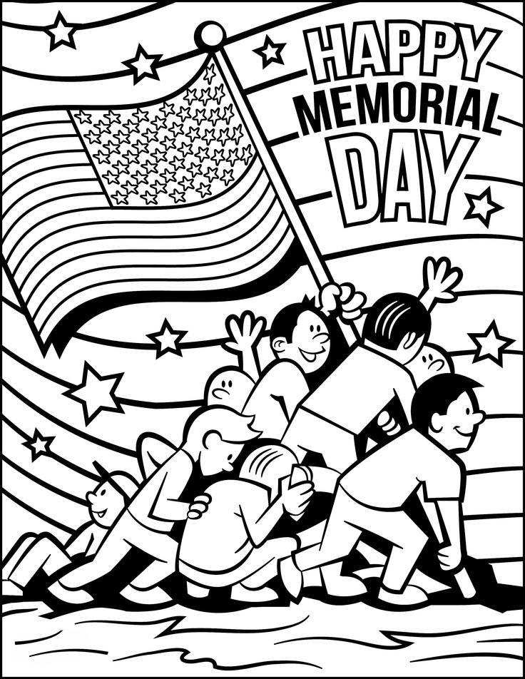 Best ideas about Free Coloring Sheets For Memorial Day . Save or Pin Memorial Day Coloring Pages Free Download For Kids Now.