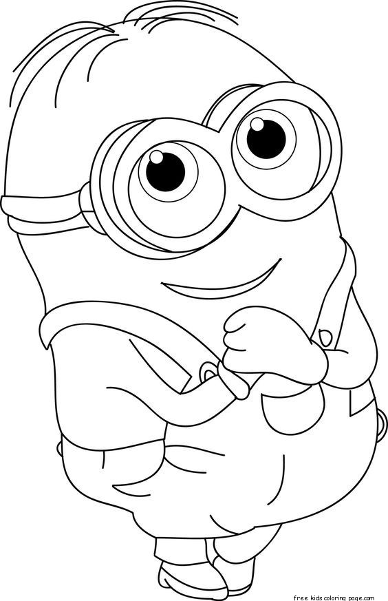 Best ideas about Free Coloring Sheets That Challange Kids . Save or Pin the minions dave coloring page for kids Free Printable Now.