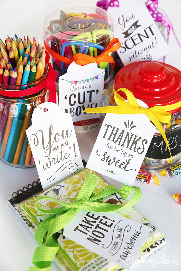 Best ideas about Free Gift Ideas . Save or Pin Cutest Teacher Gifts Ideas with FREE printable t tags Now.
