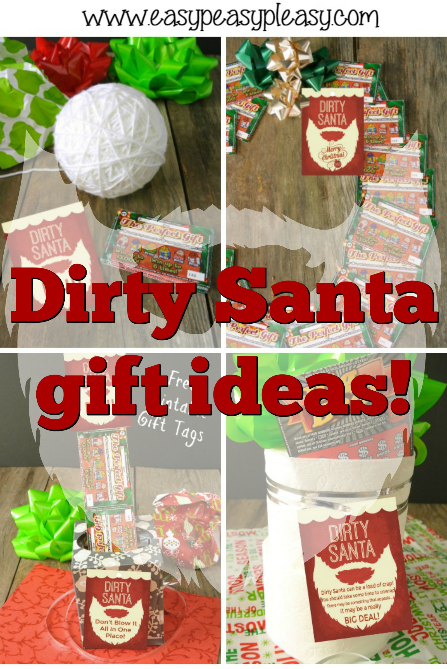 Best ideas about Free Gift Ideas . Save or Pin Dirty Santa Lottery Tickets = The Perfect Gift Easy Now.