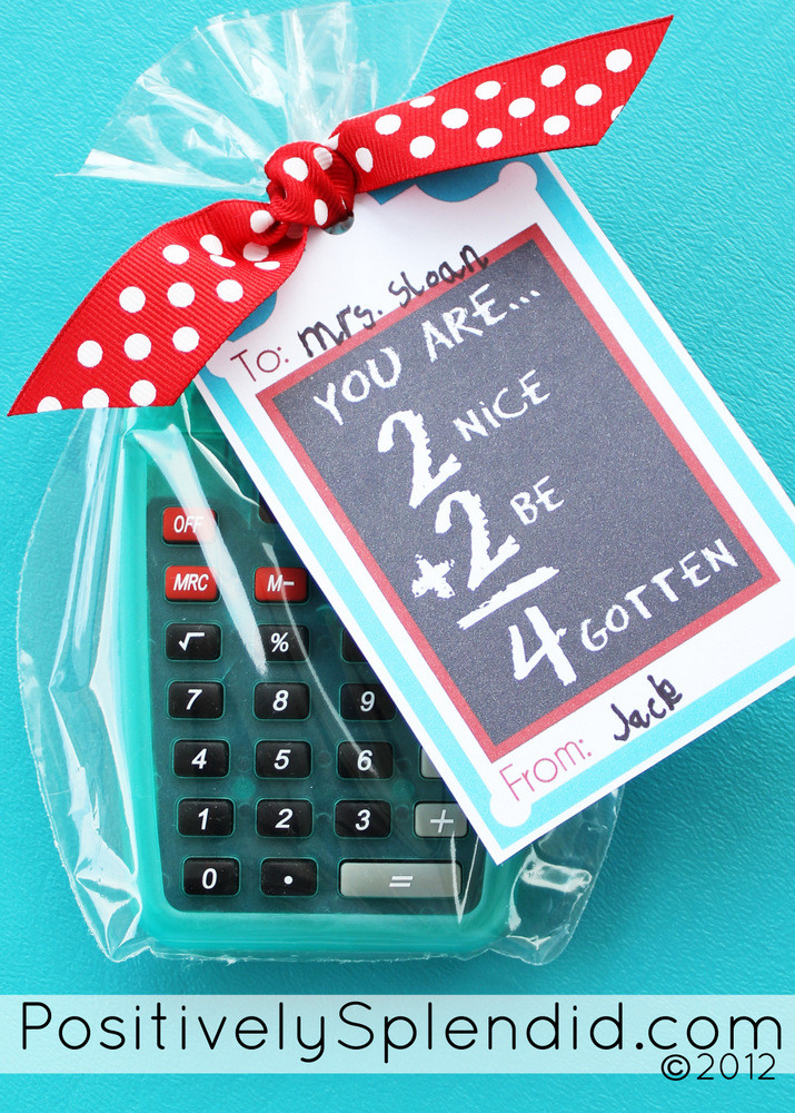 Best ideas about Free Gift Ideas . Save or Pin Personalized Calculator with free printable Teacher Now.