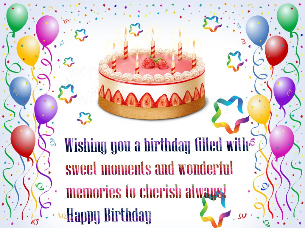 Best ideas about Free Happy Birthday Wishes . Save or Pin happy birthday wishes quotes hd wallpaper free with cake Now.