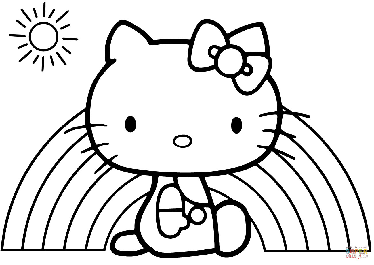 Best ideas about Free Hello Kitty Coloring Pages For Girls . Save or Pin Hello Kitty Rainbow coloring page Now.
