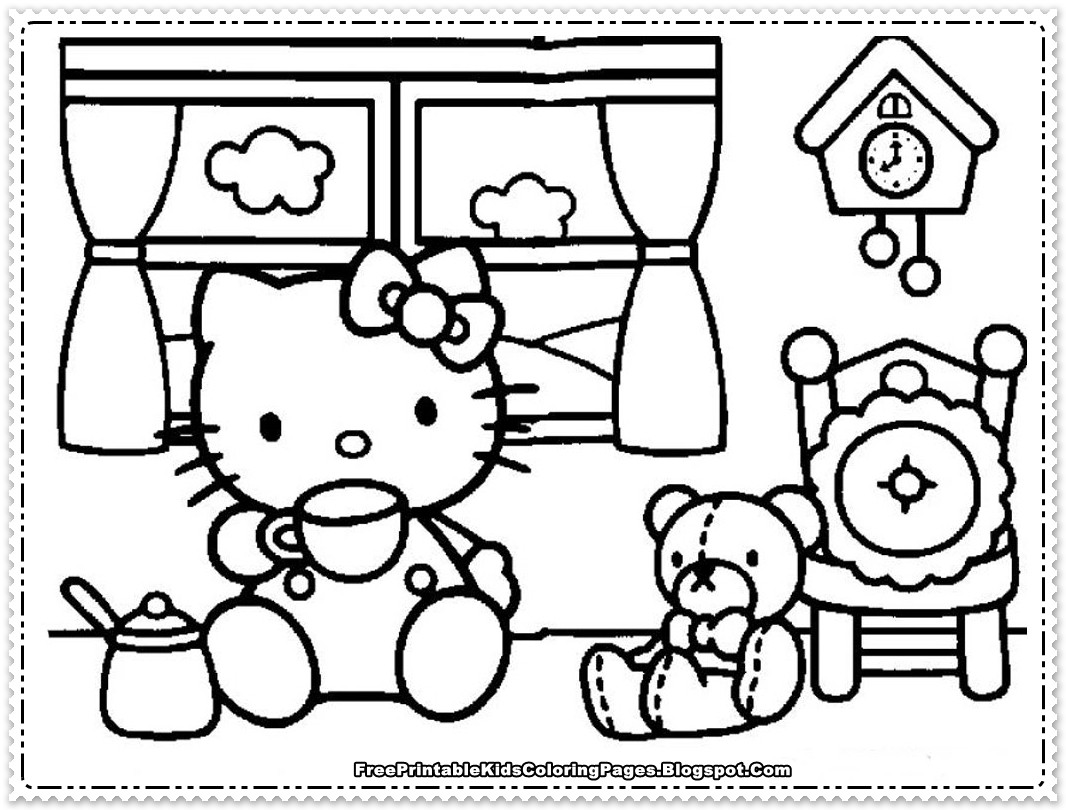 Best ideas about Free Hello Kitty Coloring Pages For Girls . Save or Pin Hello Kitty Coloring Pages For Girls Free Printable Kids Now.