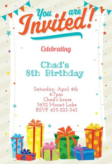 Best ideas about Free Kids Birthday Invitations . Save or Pin Kids Birthday Invitation Templates Free Now.