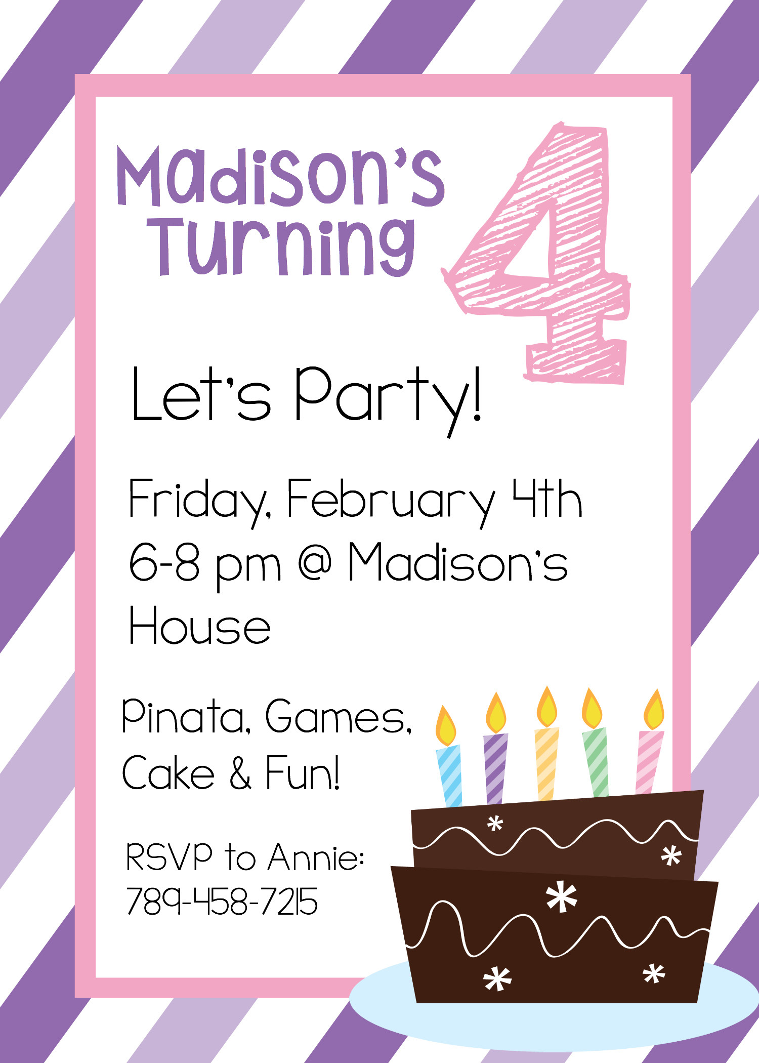 Best ideas about Free Kids Birthday Invitations . Save or Pin Free Printable Birthday Invitation Templates Now.