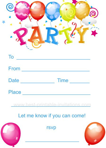 Best ideas about Free Kids Birthday Invitations . Save or Pin Kids Birthday Party Invites Now.