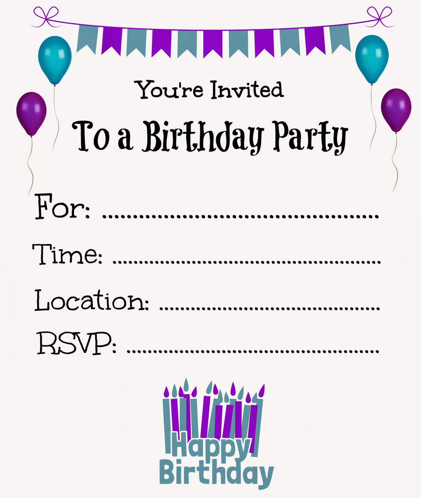Best ideas about Free Kids Birthday Invitations . Save or Pin It s a Princess Thing Free Printable Birthday Invitations Now.