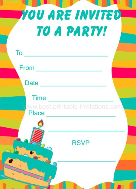 Best ideas about Free Kids Birthday Invitations . Save or Pin Party Invitations For Kids Now.