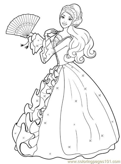 Best ideas about Free Princess Printable Coloring Pages . Save or Pin print a princess Now.