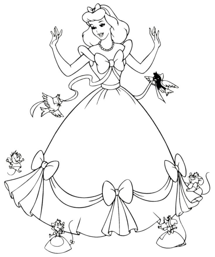 Best ideas about Free Princess Printable Coloring Pages . Save or Pin Free Printable Cinderella Coloring Pages For Kids Now.