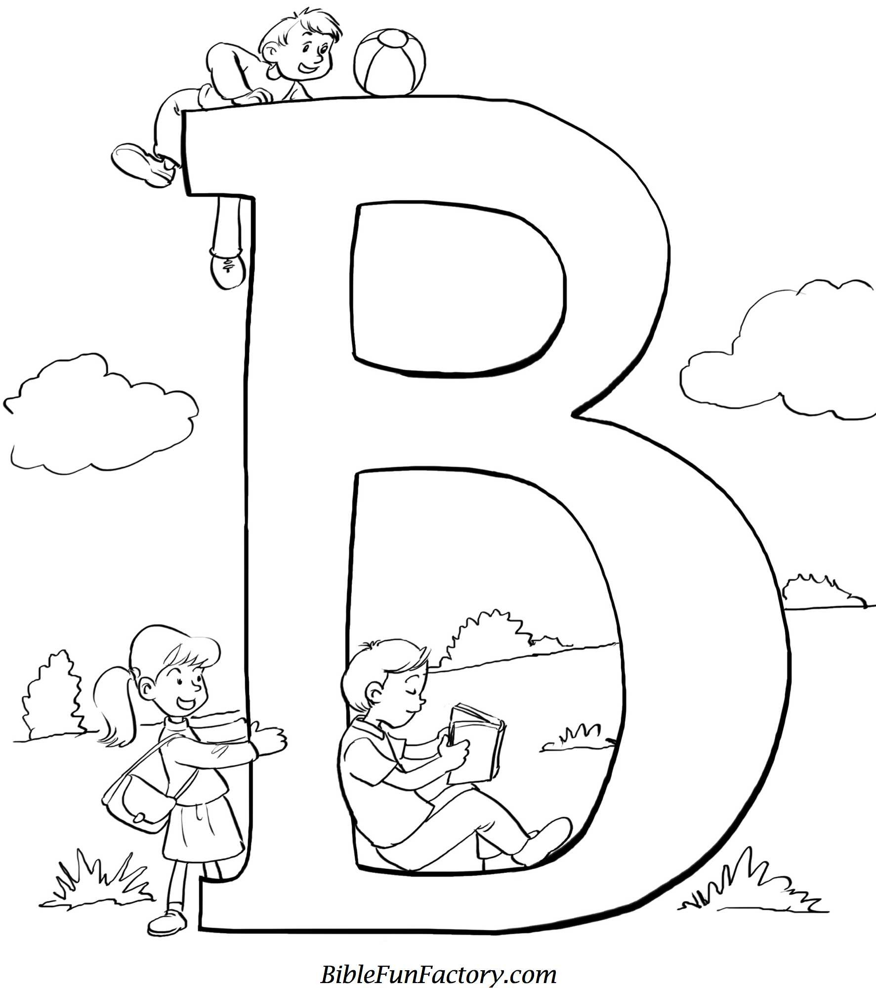 """Best ideas about Free Printable Bible Preschool Coloring Sheets . Save or Pin Bible Coloring Sheet """"B"""" is for Bible Now."""