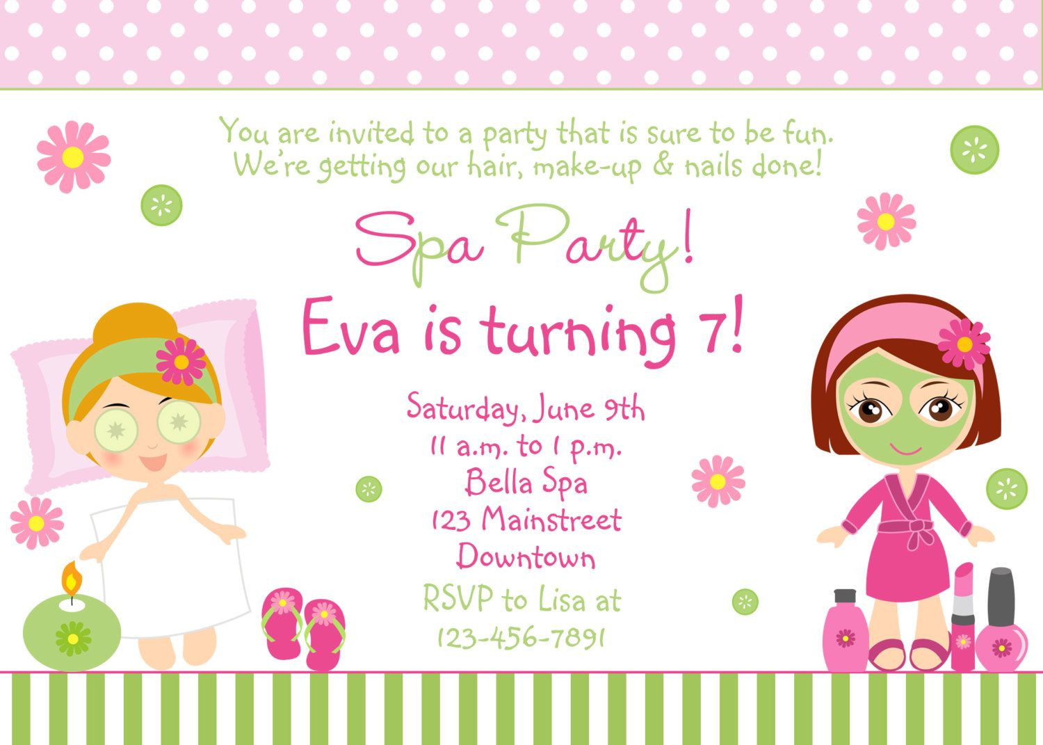 Best ideas about Free Printable Birthday Invitations For Girl . Save or Pin Free Spa Party Invitations Printables Girls – InviteTown Now.