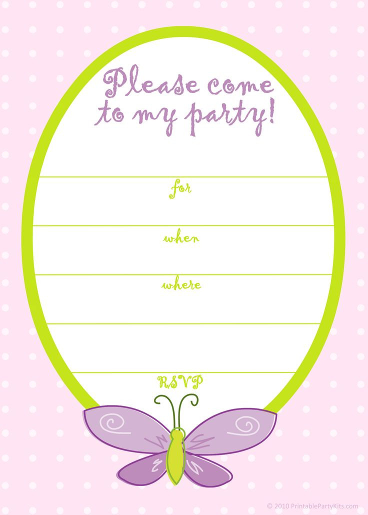 Best ideas about Free Printable Birthday Invitations For Girl . Save or Pin Free Printable Girls Birthday Invitations – FREE Printable Now.