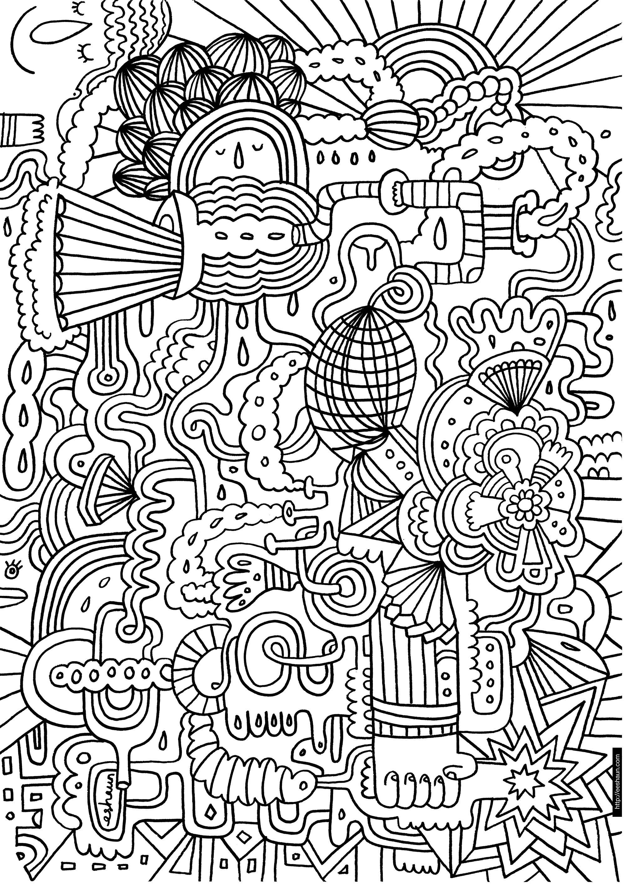 Best ideas about Free Printable Christmas Coloring Sheets For Girls Hard . Save or Pin Hard Coloring Pages Best Cool Funny Now.