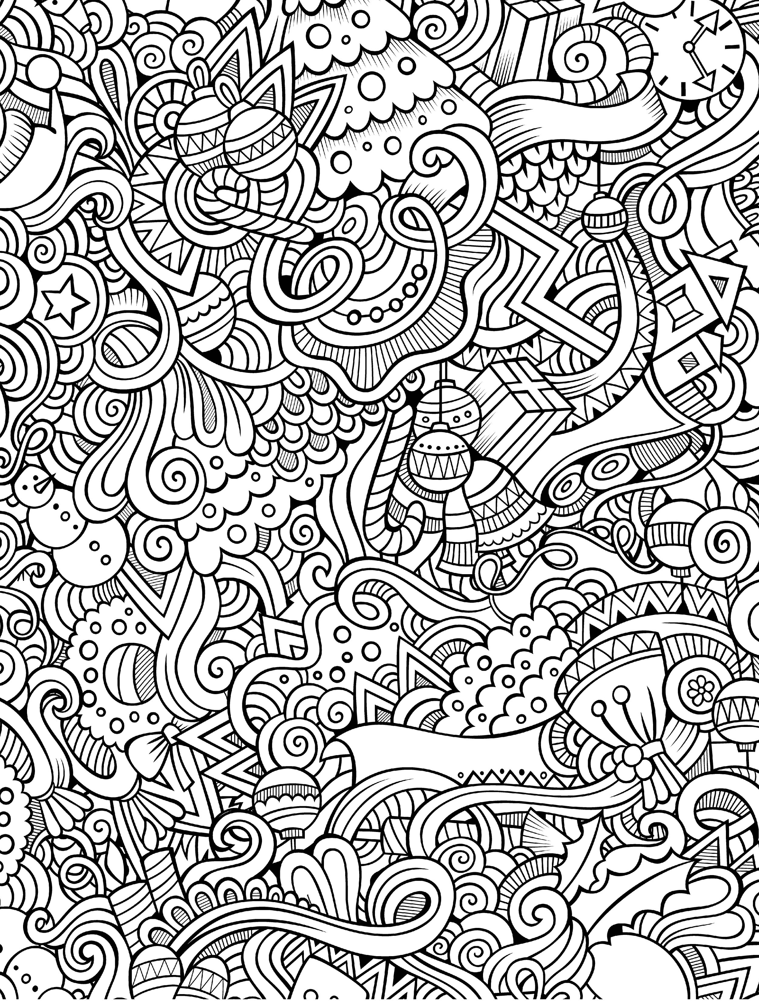 Best ideas about Free Printable Christmas Coloring Sheets For Girls Hard . Save or Pin 10 Free Printable Holiday Adult Coloring Pages Now.