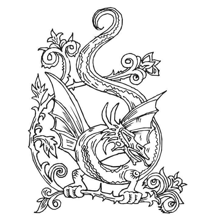 Best ideas about Free Printable Coloring Pages Dragons . Save or Pin Free Printable Coloring Pages For Adults Advanced Dragons Now.
