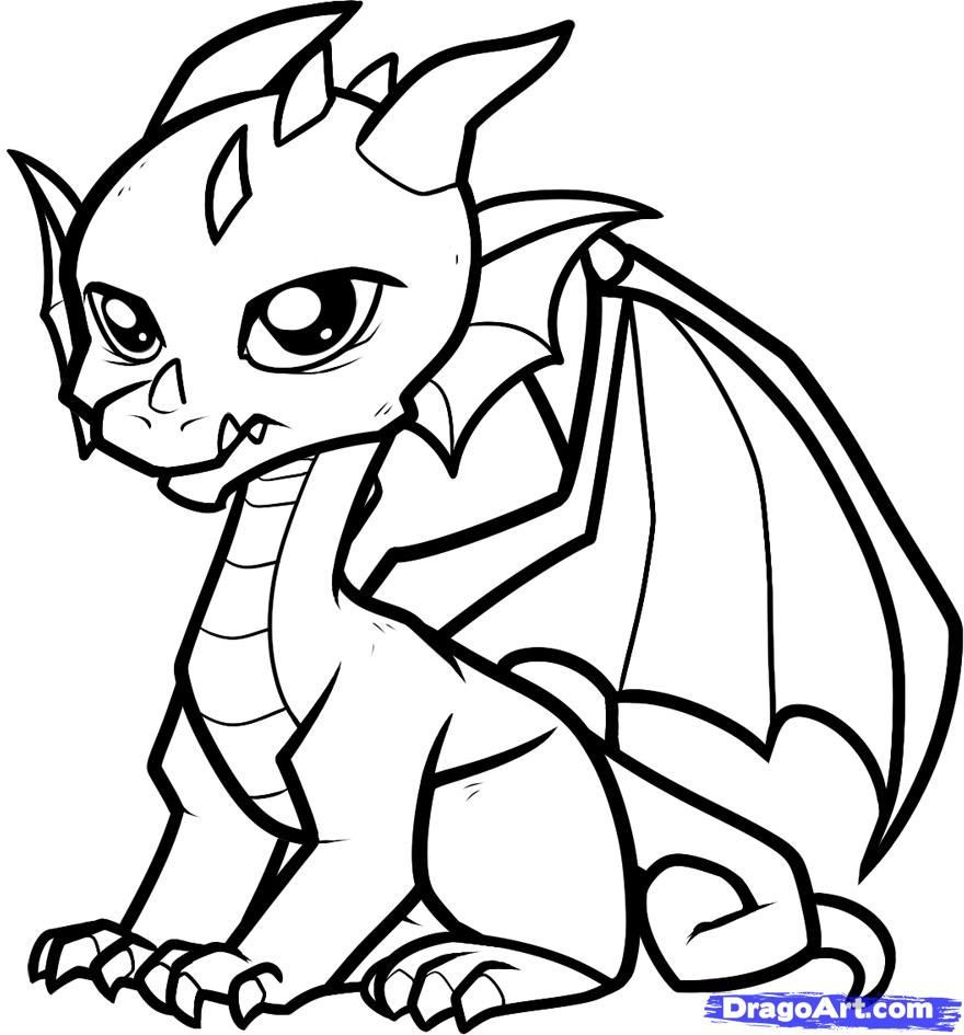 Best ideas about Free Printable Coloring Pages Dragons . Save or Pin Coloring Pages Cute Dragon Coloring Pages Printable Now.