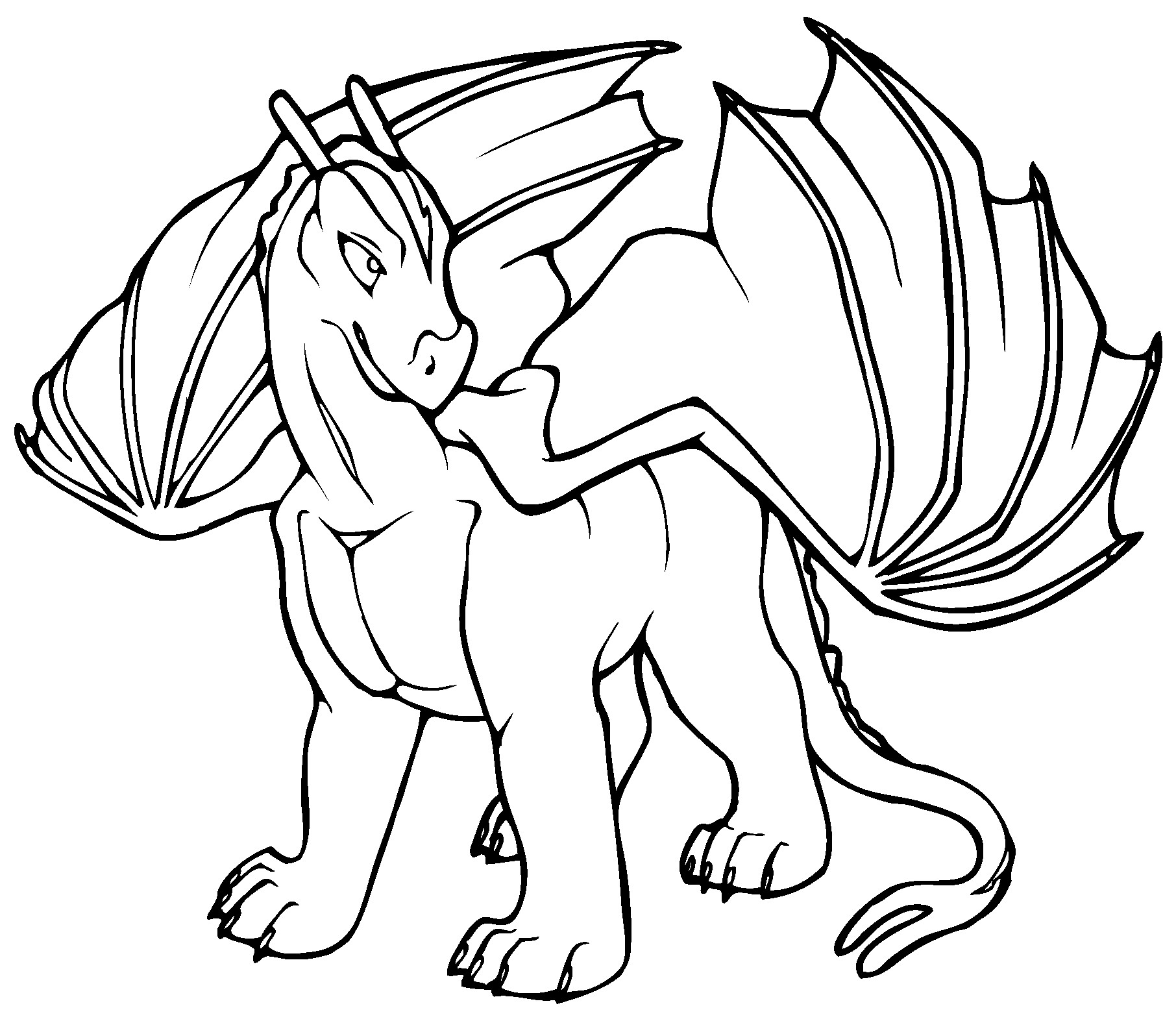 Best ideas about Free Printable Coloring Pages Dragons . Save or Pin Free Printable Dragon Coloring Pages For Kids Now.