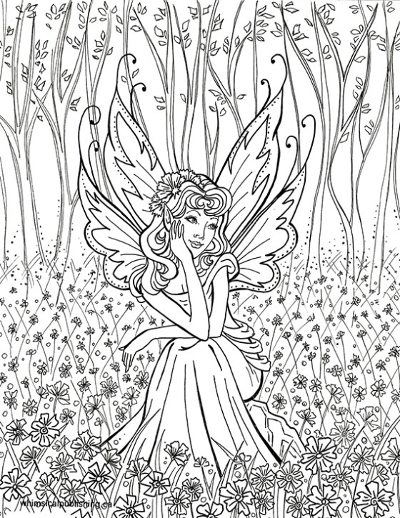 Best ideas about Free Printable Coloring Pages For Adults Dark Fairies . Save or Pin Fairy Coloring Pages Now.