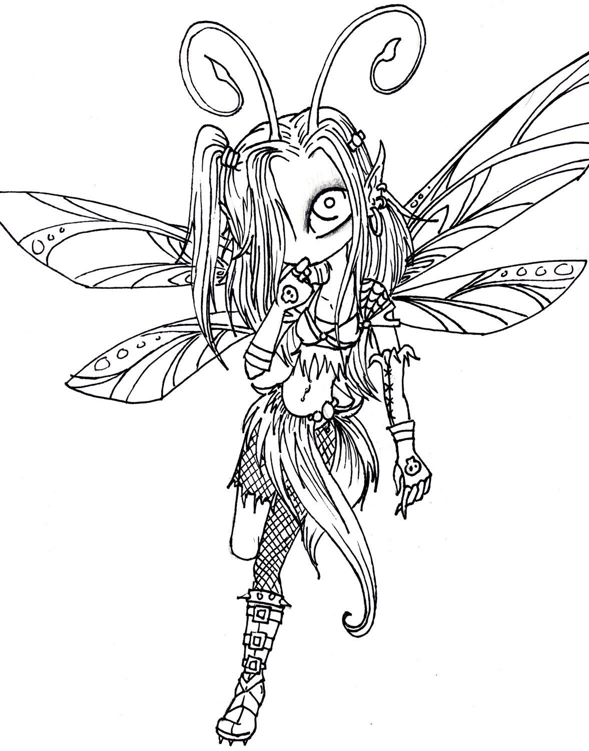 Best ideas about Free Printable Coloring Pages For Adults Dark Fairies . Save or Pin Free Printable Coloring Pages for Adults Dark Fairies Now.
