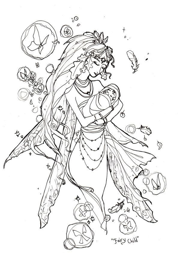 Best ideas about Free Printable Coloring Pages For Adults Dark Fairies . Save or Pin 52 best images about Coloring Pages on Pinterest Now.